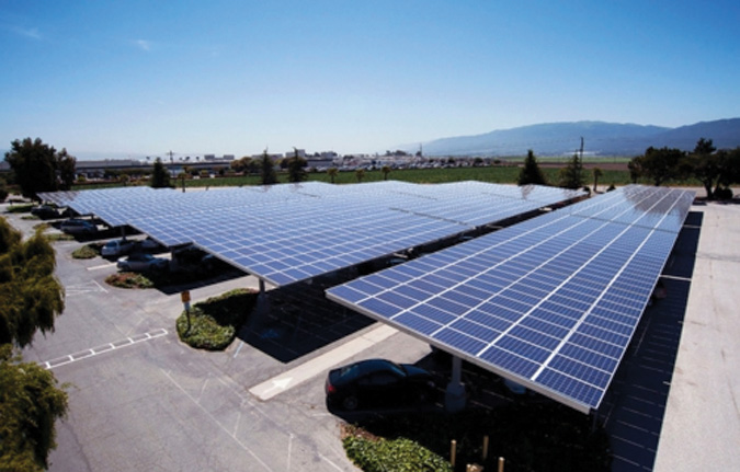 Chevron Energy Solutions installed a 630-kW solar canopy as part of an energy and efficiency services project for the Monterey County (Calif.) Office of Education.