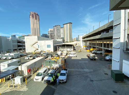 Hawaiian Electric's operations and maintenance center in downtown Honolulu.