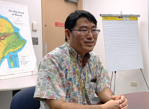 Robert Kaneshiro: Our transmission system is 69 kilovolts. Our evening peak comes in at about 185 or 190 megawatts.